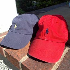 Polo Ralph Lauren Red and Navy Cap set